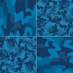 Ninos Camuflado Azul